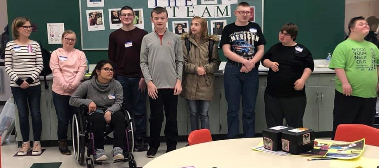 """Students participating in, """"It's My Turn"""" self -advocacy training."""