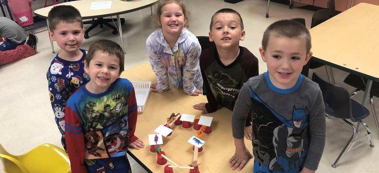 Preschool STEM bridges!