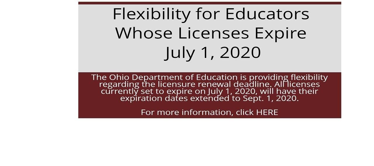 License Renewal Flexibility