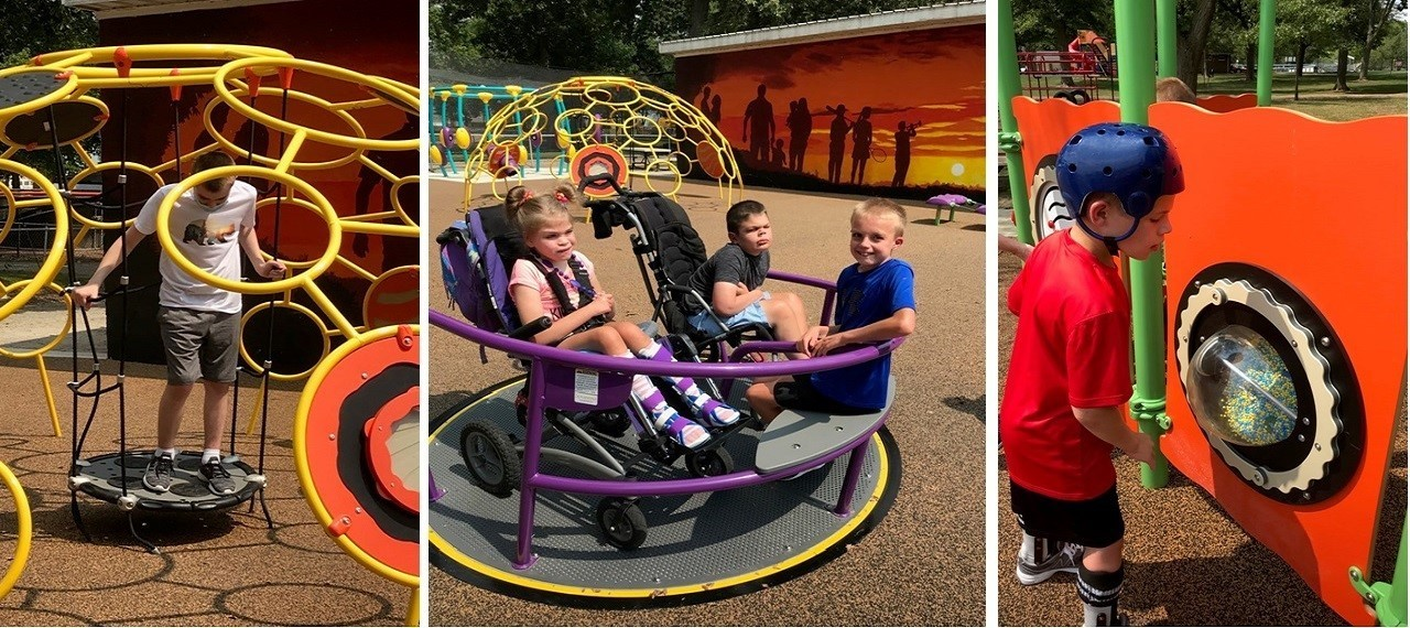 Students enjoying an afternoon at the park during the first week of school